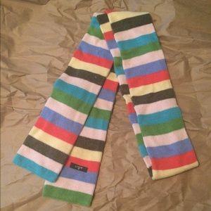 J.CREW Multicolor Rainbow Striped Retro Scarf